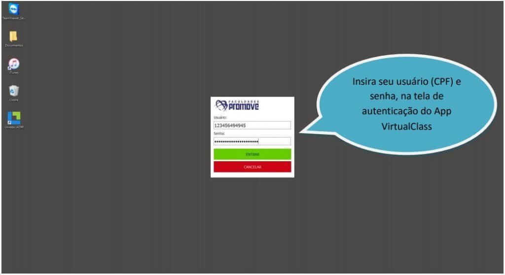 Manual de Acesso APP VirtualClass 12